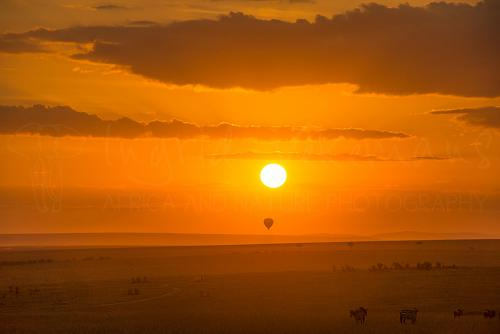 Sunrise over the Masai Mara during Migration and Rift Valley Lakes photo safari