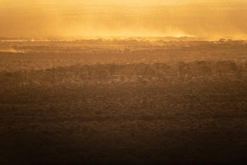 Sunset over Tsavo West - 'Maneaters and Red Elephants' photo safari